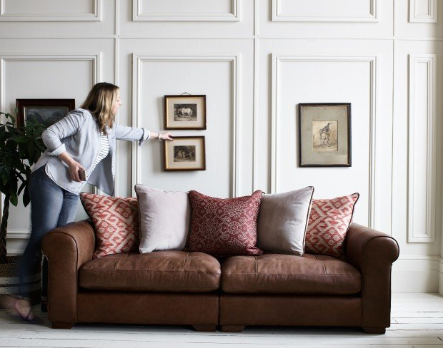 Meet the lady who 'puts the bow on top' of Alexander and James sofas
