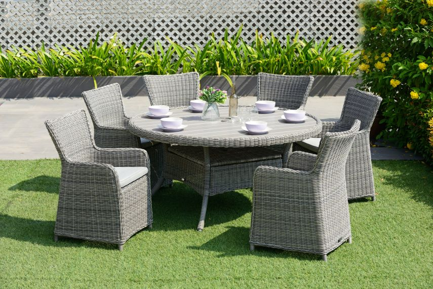 garden table and 6 chairs set