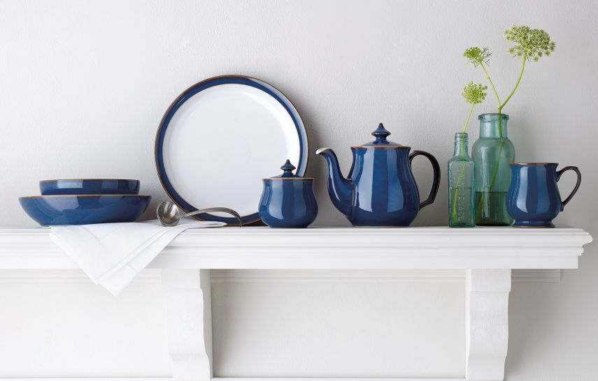 blue denby tableware